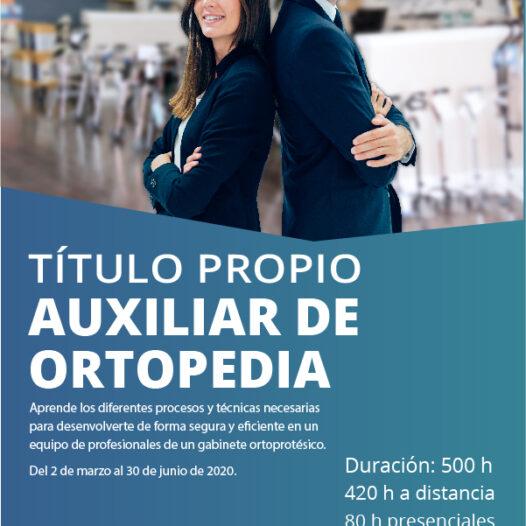 Título Propio de Auxiliar de Ortopedia