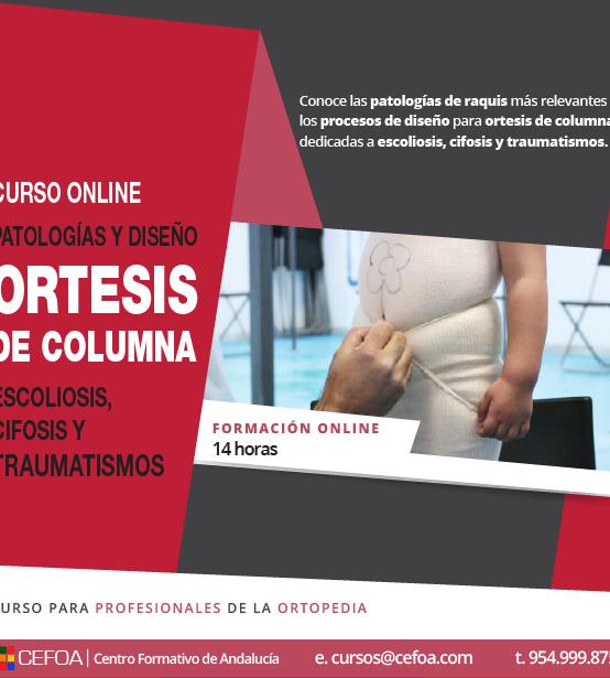 Patologías y diseño de ortesis de columna: escoliosis, Cifosis y traumatismos