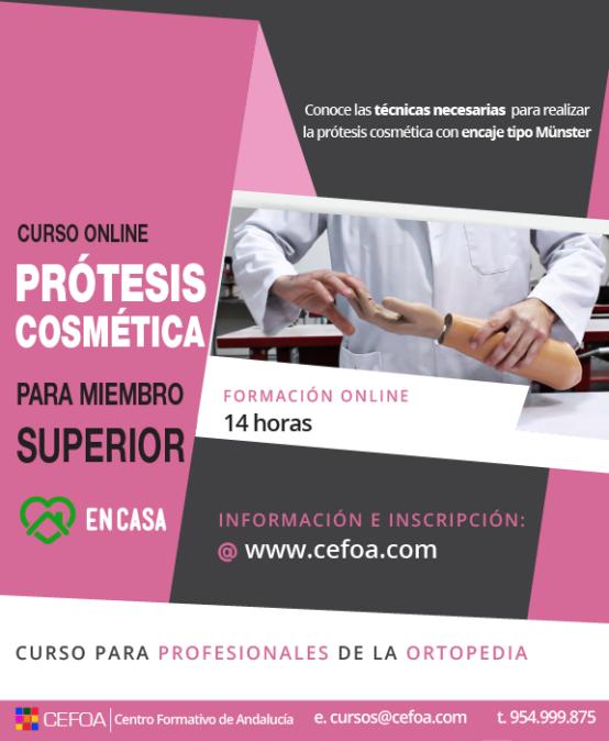 Prótesis cosmética para miembro superior.