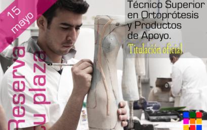 Se abre el periodo de inscripción del Ciclo de Técnico Ortoprotésico
